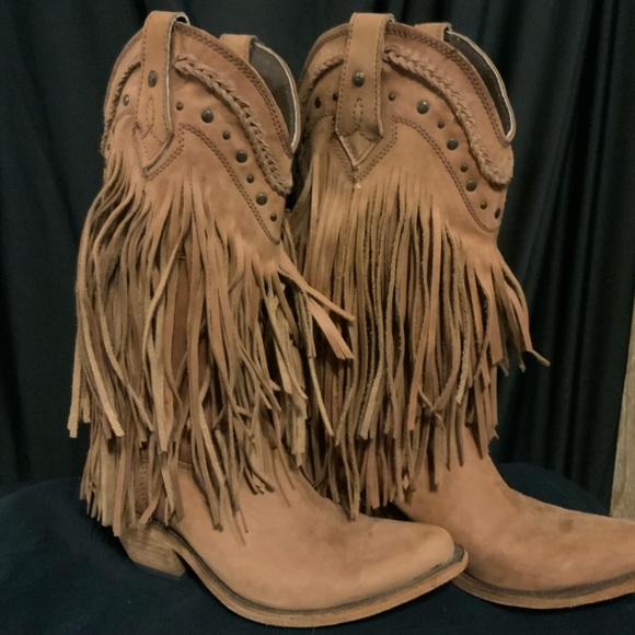 liberty fringe boots